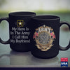 Army Tumbler Cup My Hero Is In The Army  I Call Him My Boyfriend   Veteran Shirts Funny 11Oz 15Oz Coffee Mug Drinkware Army Canteen, Army Coins, Army Infantry, Army Pay, Army Prt, Army Rank,