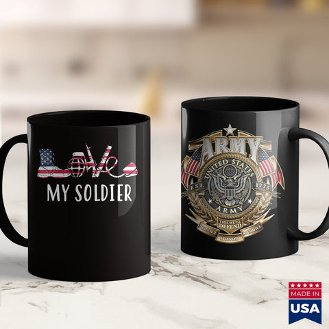 Arri Csc Love My Soldier Proud Us Army Mom Army Wife  For Women Go Navy Beat Army Shirts 11Oz 15Oz Coffee Mug Drinkware Army Abu, Army Coin Holder, Army Commendation Medal, Army Flag, Army Ho