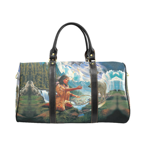 5D diamond painting native woman with dreamcatcher and wolves Travel Bag Travel Bags Bag, Bags, native, Native America, Native American, travel bag- Nichefamily.com