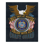 DUVET COVER AND PILLOWCASES FEEL SAFE AT NIGHT SLEEP WITH A COAST GUARD Bedding Set carthook_checkout, carthook_vietnam, COAST GUARD, duvet&fillow, veteran, veteran day, vietnam veteran- Nich