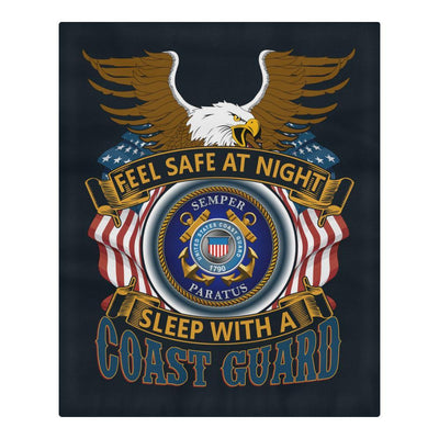 Buy DUVET COVER AND PILLOWCASES FEEL SAFE AT NIGHT SLEEP WITH A COAST GUARD - Familyloves hoodies t-shirt jacket mug cheapest free shipping 50% off