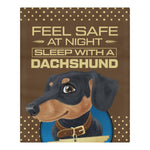 Feel Safe At Night Sleep With a DachShund v1 Bedding Set carthook_checkout, dog, dog owner, dog pillow, DOGS, duvet&fillow- Nichefamily.com