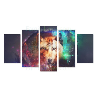 Buy wolf Canvas 5 piece - Familyloves hoodies t-shirt jacket mug cheapest free shipping 50% off