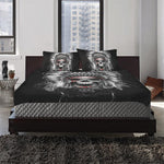 SKULL NATIVE AMERICA 3-Piece Bedding Set 1 Duvet Cover 2 Pillowcases Bedding Set bedding, carthook_checkout, native, Native America, Native American- Nichefamily.com