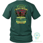 I SERVED, I SACRIFICED, I REGRET NOTHING, I AM NOT A HERO, BUT I AM PROUD TO BE A VIETNAM VETERAN T-SHIRT T-shirt carthook_checkout, meta-relate-collection-u-s-navy-seals, meta-related-collec
