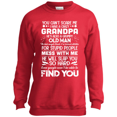 I Have a Crazy Grandpa Youth Crewneck Sweatshirt sp Sweatshirts - Nichefamily.com