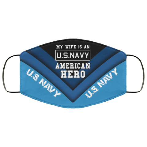 Us Navy Corpsman Shirt Mens My Wife Is An American Hero Us Navy Tee Military Husband Face Mask Design Accessories - Nichefamily.com