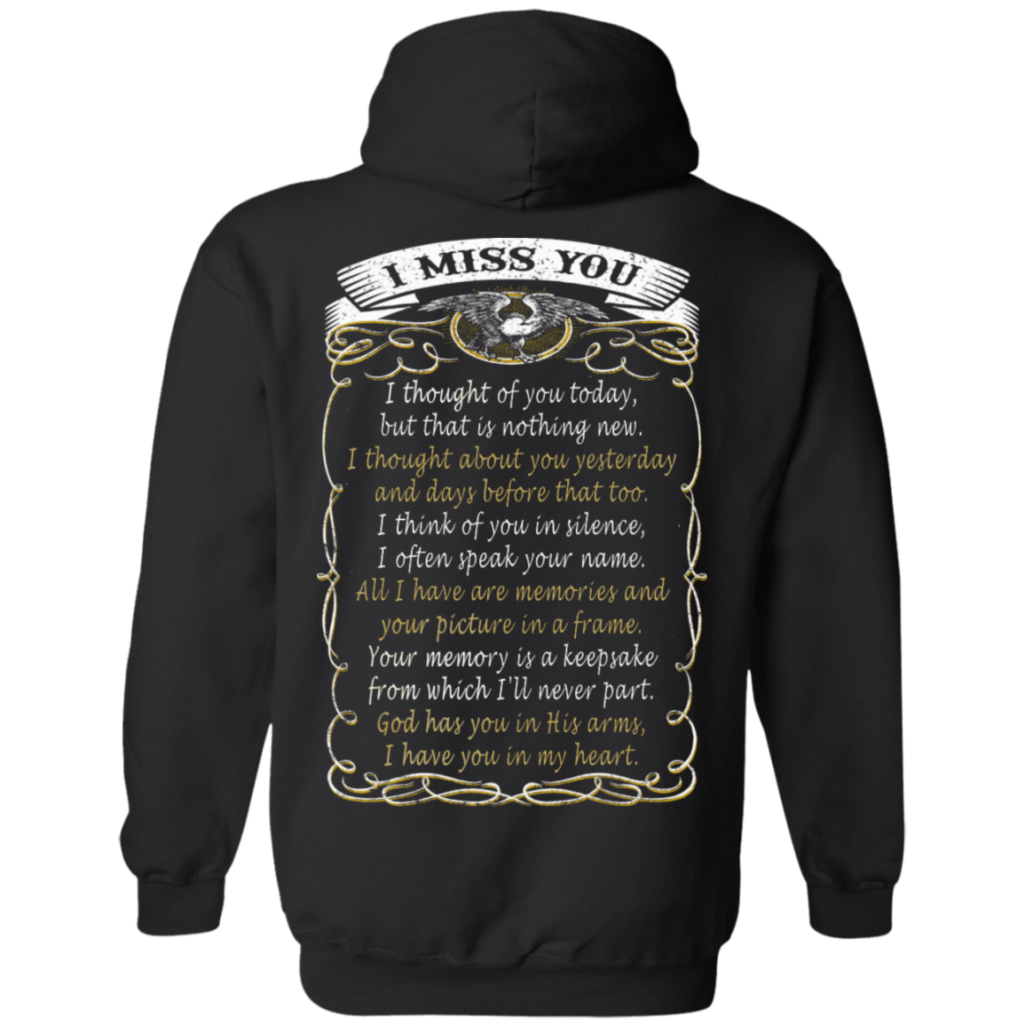 I MISS YOU HOODIE, LONG SLEEVE