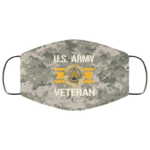 Military Army Proudlyserved Us Army Veteran E6Staffsergeant Face Mask Design Accessories - Nichefamily.com
