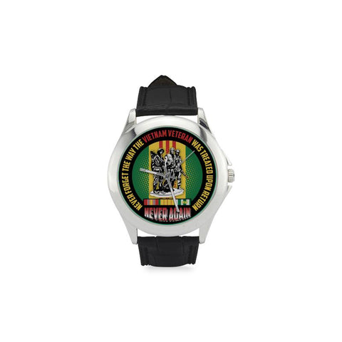 Never Forget The Way The Vietnam Veteran Was Treated Upon Return Men's Classic Leather Strap Watch WatchesåÊ carthook_checkout, meta-related-collection-watches, veteran, vietnam veteran, vi
