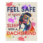 Feel Safe At Night Sleep With a DachShund v2 Bedding Set carthook_checkout, dog, dog owner, DOGS, duvet&fillow- Nichefamily.com