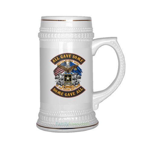 U.S.ARMY ALL GAVE SOME SOME GAVE ALL BEER STEIN Drinkware army, beer stein, carthook_armyjacket, carthook_checkout, meta-related-collection-army, veteran- Nichefamily.com