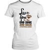 love you to the end zone and back #footballmom wp T-shirt - Nichefamily.com
