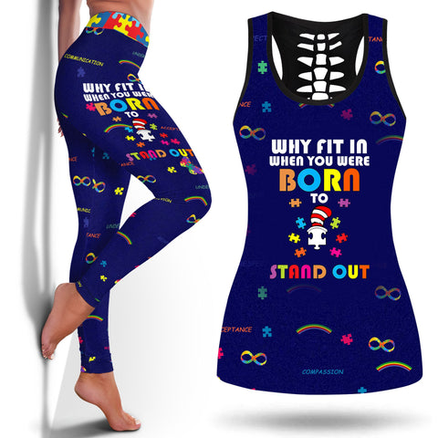 Is Autism A Mental Illness Why Fit In When You Were Born To Stand Out Autism Shirt Autism In Girlslegging And Tanktop Legging and Tanktop Autism Legging- Nichefamily.com
