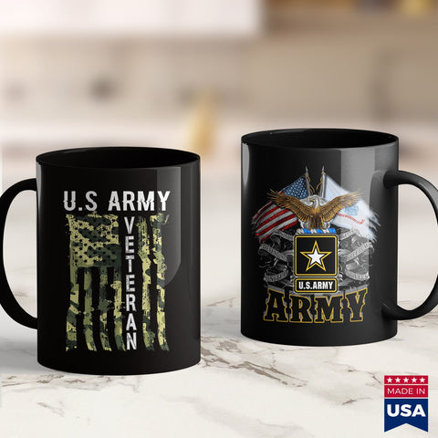 Military Army U.S Army Veteran Tee Great Usa Camouflage Mens Womens Gift  Coast Guard Shirts 11Oz 15Oz Coffee Mug Drinkware Army Acu, Army Hoodie, Army Insignia, Army Job, Army Medals, Army P