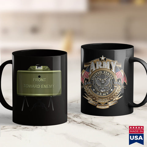 Military Coffee Mugs Mens Official Take Action Claymore Mine  Army Military Army Under Armour Shirt 11Oz 15Oz Coffee Mug Drinkware Arab Men, Arab Tea, Arab Tee, Army Fabric, Army Medals, Army