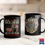Military Cups Mens She Is Not A Soldier He Is My Son Proud Army Dad  Military Tees 11Oz 15Oz Coffee Mug Drinkware 1St Army, America Mugs, Arab Tee, Army Coffee, Army Job, Army Law, Army Medal