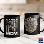 Military Mugs Im A Proud Army Mom  Army Ranger Apparel 11Oz 15Oz Coffee Mug Drinkware 1St Army, America Mugs, Army Caps, Army Coffee, Army Cot, Army Fabric, Army Job, Army Ribbons, Army Rings