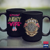 Navy Chief Coffee Mug Proud Army Wife   Camo Military Spouse S Gift Green Military Shirt 11Oz 15Oz Coffee Mug Drinkware 1St Army, America Mugs, Argo Tea, Army Coffee, Army Coffee Mugs, Army L