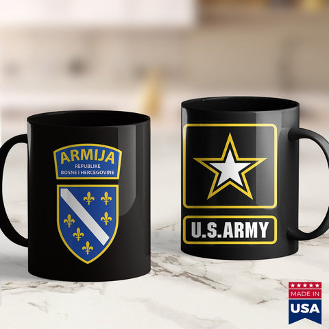Navy Mugs Bih Armija  Bosnian Army Tee Army Shirts Amazon 11Oz 15Oz Coffee Mug Drinkware Argo Tea, Army Bmi, Army Challenge Coin, Army Guy, Army Jewelry, Army Military Police, Army Pins, Army