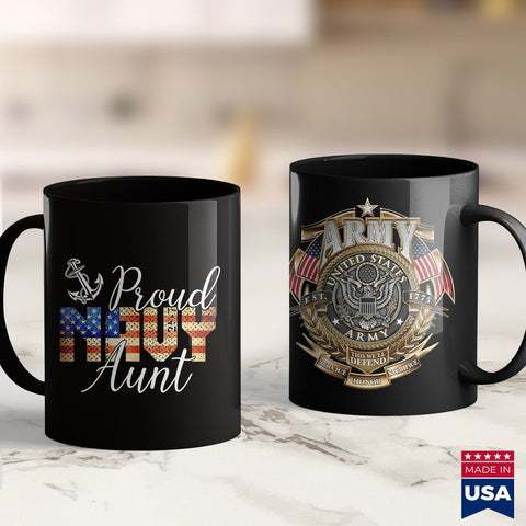 Navy Mugs Proud Aunt For Men Or Women S Army Veterans Day Marines Tee Shirts 11Oz 15Oz Coffee Mug Drinkware Argo Tea, Army Bmi, Army Challenge Coin, Army Guy, Army Jewelry, Army Military Poli