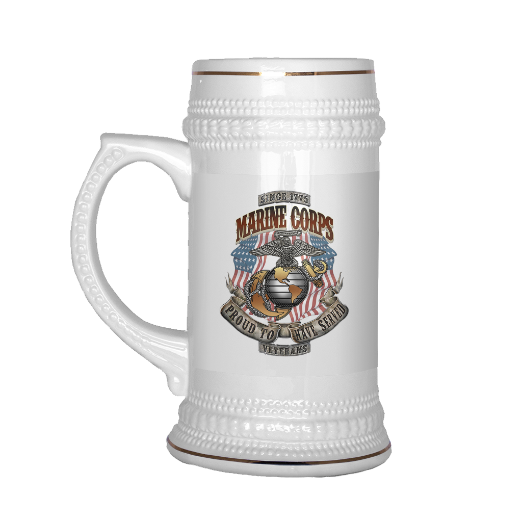 Buy US MARINES CORPS, PROUD TO HAVE SERVED, SINCE 1775 BEER STEIN - Familyloves hoodies t-shirt jacket mug cheapest free shipping 50% off