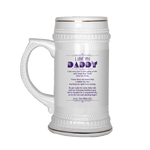 I love you dad I am very new to this game of life- Beer Stein Drinkware beer stein, carthook_checkout, DAD FATHER, family, family mugs, FATHER- Nichefamily.com