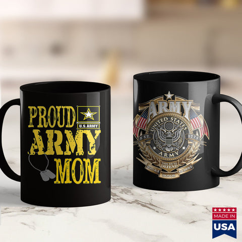 Us Army Challenge Coin Proud Army Mom  Military Pride   Army Shirts Walmart 11Oz 15Oz Coffee Mug Drinkware Army Clothing, Army Infantry, Army Lighter, Army Pcs, Army Pins, Army Rank, Army Swe
