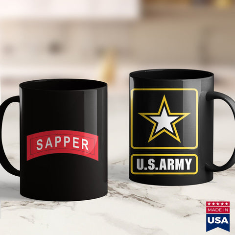 Us Army Coin Army Sapper Tab  Navy Pt Shirts 11Oz 15Oz Coffee Mug Drinkware America Mugs, Army Ako, Army Car, Army Clothing, Army Pft, Army Rank, Army Recruiting, Army Sweat, Army Water Bottl