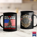Us Army Eod My Cousin Is A Soldier Proud Army Family Military Relative  Funny Military T Shirts 11Oz 15Oz Coffee Mug Drinkware Air Force Coffee Mug, Army Lighter, Army Nvg, Army Pcs, Army Pft