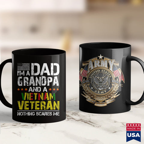 Us Army Hats Mens Im Dad Grandpa And Vietnam Veteran Us Army Veterans Day  Army Merchandise 11Oz 15Oz Coffee Mug Drinkware Army Ako, Army Clothing, Army Decals, Army Infantry, Army Pay, Army