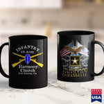 Us Army Hats Us Army Infantry  Harmony Church Design 2 Us Navy Shirts 11Oz 15Oz Coffee Mug Drinkware Army Ako, Army Bed, Army Clothing, Army Nvg, Army Pay, Army Pft, Custom Military Coffee Mu