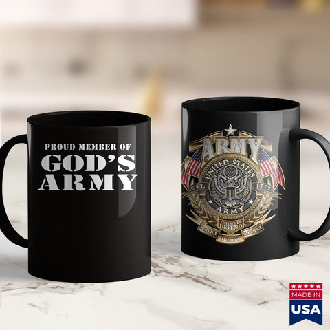 Us Army Jobs Proud Member Of Gods Army Military Style Christian  Marine Corps T Shirts 11Oz 15Oz Coffee Mug Drinkware Army Bed, Army Guy, Army Men, Army Nvg, Army Pay, Army Pcs, Army Pft, Cus