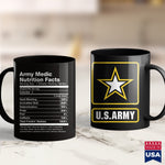Us Army License Plate Army Medic Nutrition Facts Name Funny  Military T Shirts For Men 11Oz 15Oz Coffee Mug Drinkware Army Coffee Mugs, Army Decals, Army Frg, Army Guy, Army Mom, Army Pay, Ar