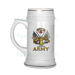 UNITED STATES ARMY 1775 THIS WE'LL DEFEND BEER STEIN Drinkware army, beer stein, carthook_armyjacket, carthook_checkout, meta-related-collection-army, veteran- Nichefamily.com