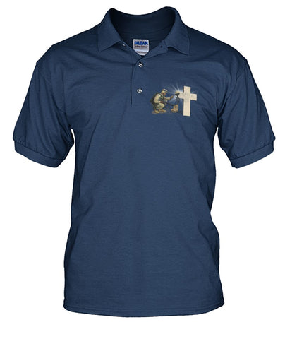 Stand for the flag kneel for the cross polo shirt wp Short Sleeves - Nichefamily.com