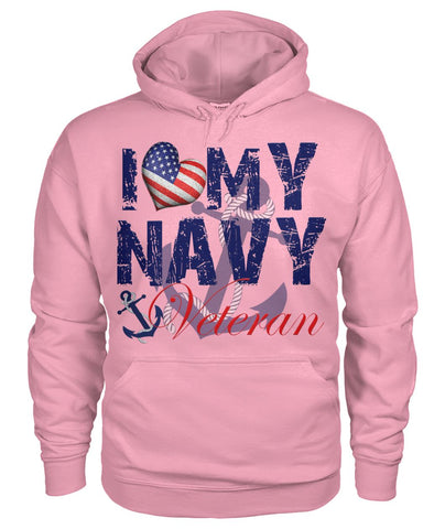 I love my navy veteran men, women wp Hoodies - Nichefamily.com