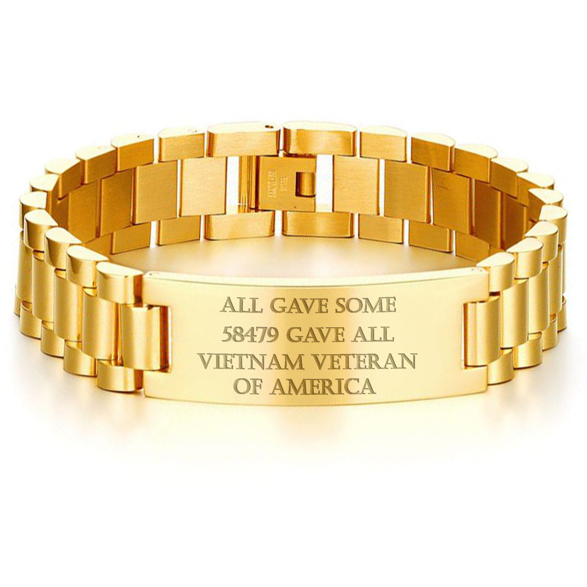 ALL GAVE SOME, 58479 GAVE ALL, VIETNAM VETERAN OF AMERICA-MEN BRACELET.