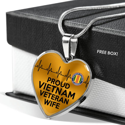 Proud Vietnam Veteran Wife Necklaces & Bangles Jewelry - Nichefamily.com