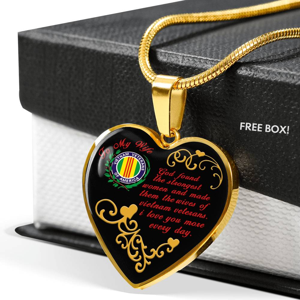To my wife.  God found the strongest women... vietnam veteran necklaces wp