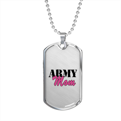 Military Mom Luxury Add Engraving Dog Tag Jewelry - Nichefamily.com