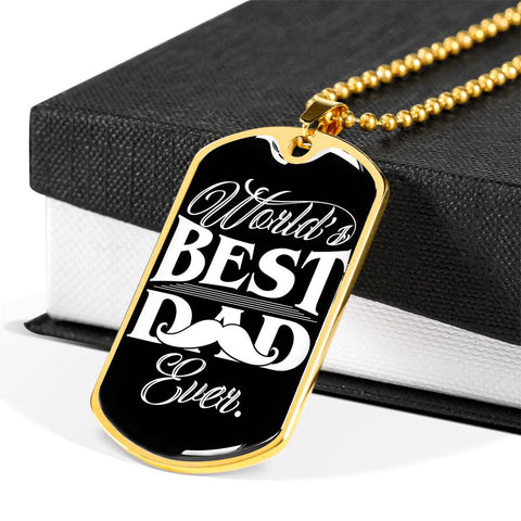 World's best dad ever Luxury Engraving Dog Tag Necklace Jewelry carthook_checkout, carthook_family, DAD FATHER, dog tag, family, jewelry, necklace- Nichefamily.com
