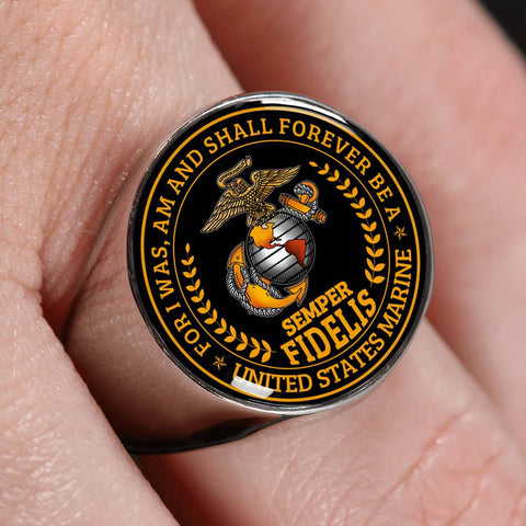 semper fidelis For I was am and shall forever be a united states marine Ring wp Ring - Nichefamily.com