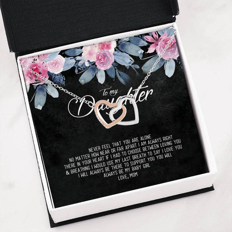 to my daughter never feel that you are Jewelry - Nichefamily.com
