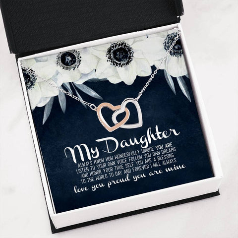my daughter love you proud you are mine Jewelry - Nichefamily.com