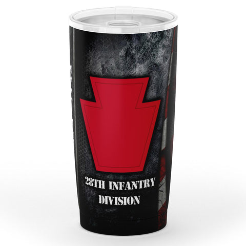 U.s Army 28th Infantry Division Tumbler 20oz Tumbler - AOP military, tumbler, us army, veteran- Nichefamily.com