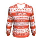 grandma and grandson she is his fairy godmother he is her prince UGLY CHRISTMAS SWEATER Sweatshirt carthook_checkout, GRANDMA, GRANDMA SHIRT, uglysweater- Nichefamily.com