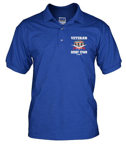 Veteran Desert Storm? men's polo shirt wp Short Sleeves - Nichefamily.com