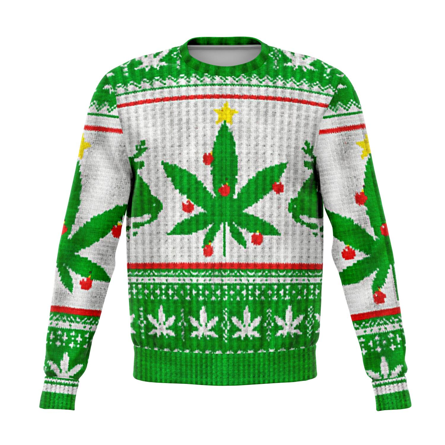 Weed christmas tree ugly christmas sweater wp
