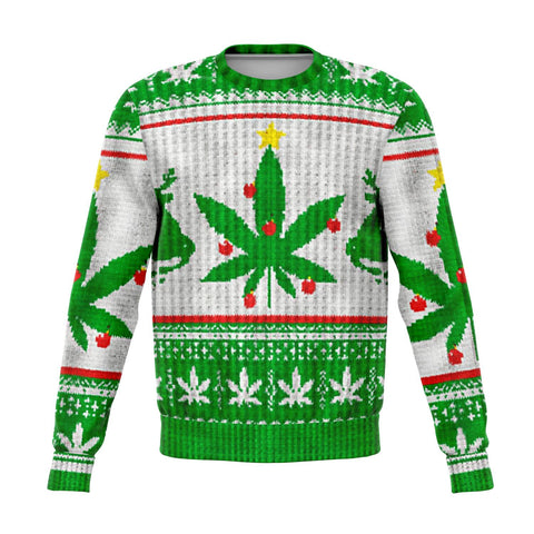 Weed christmas tree ugly christmas sweater wp Fashion Sweatshirt - AOP - Nichefamily.com